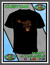 Borderlands Claptrap XBOX Playstation T Shirt E Black 1 2 3 Top T-shirt Custom
