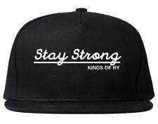 Kings Of NY Stay Strong Script Logo Snapback Hat Cap