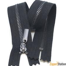 Gun Metal Teeth Zips No3 Weight Zip - Closed End - Black,White (3ZCE)