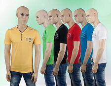 Herren Shirt Kurzarm Poloshirt Party Club Schwarz Grün Rot Gelb Blau Weiß