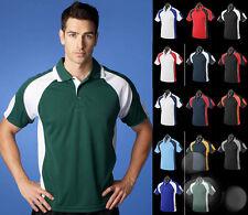 Mens Polo Size S M L XL 2XL 3XL 5XL Aussie Pacific Contrast Sport Work Shirt Top