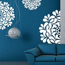 Flower Pattern Vinyl Wall Stickers, Wall Art, Wall Graphics, Wall Decorations