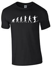 Slackline Evolution T-Shirt Textildruck Shirtbild Geschenk Akrobatik Herren S221