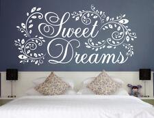 Sweet Dreams - süße Träume Deko Schlafzimmer Wandaufkleber Wandspruch WandTattoo