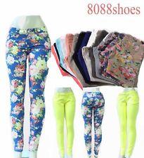 Women's Girl's Sexy Colorful Slim Skinny Leggings Denim Jeans Pants Size 0 - 15