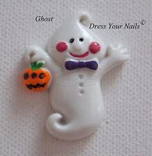 Fantasma de Halloween de cabujón de flatback 3d Decoración Artesanal, teléfono móvil encanto