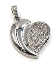 USB Stick 4 GB Schmuck Herz Anhänger Kettenanhänger Strass Gold Coeur Corazón