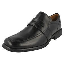 Herren huckley Works schwarzes Leder Hineinschlüpfen Schuhe von Clarks