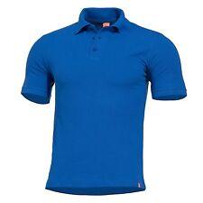 PENTAGON Maglia Polo T-shirt uomo militare Piquet morbido SIERRA Liberty Blue