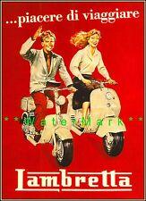 Lambretta 1954 Classic Italian Scooter Vintage Poster Print Advertisement