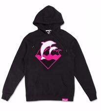 Pink Doliphin HOLIDAY WAVES Black Pink White ScreenprintMen's Hoodie Sweatshirt
