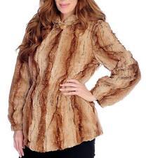 NEW - Pamela McCoy Faux Fur Long Sleeved Two-Pocket Hooded Coat
