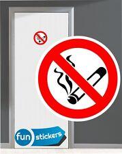 Rauchverbot  Aufkleber nicht Rauchen Zigarettenverbot  No Smoking diverse Größen