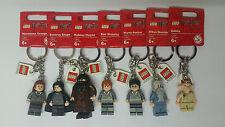 Brand new Lego Keyrings - Harry Potter, Ron, Dobby, Snape & More See Inside