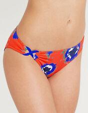 Huit Good Mood Bikini Brief Swimwear Orange Blue Floral Citrouille Size XL NEW