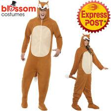 CA383 Animal Fox Mens Ladies Fancy Dress Zoo Jumpsuit Halloween Book Week Funny