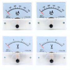 50uA-30A DC Ammeter 5V-300V DC/AC Voltmeter 85C1/85L1 Analog Panel Meter 65*56mm