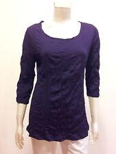 EVERSUN Women's 3/4 Sleeve Crushed Jersey top Dark Purple Size 10,12,14,16,18,20
