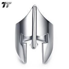 Quality TT 316L S.Steel Punk Sparta Warriors Mask Ring Size 7-15 RZ173S NEW