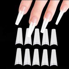 100pcs Long Ballerina Half Cover Nail Tips Coffin False Nail Fake UV Gel Nail