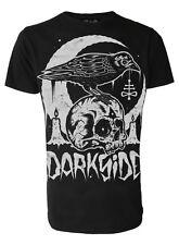 Darkside-cráneo Crow-Para Hombres Camiseta-Negro-Gótico, Wicca, Rock oculta