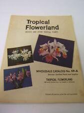 Tropical Flowerland vintage 1958 catalog paper color