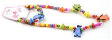 Kids brillant en Bois Pingouin collier & bracelet (280452-154)