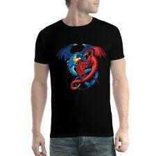 Dragon Duel Fight Mens T-shirt XS-5XL