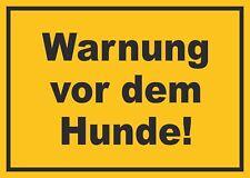 Warnung vor dem Hunde Schild, Achtung, Wachhund, Hund, Grundstück, Vorsicht