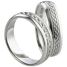 Freundschaftsringe - Partnerringe - Verlobungsringe -  Edelstahl mit Diamant