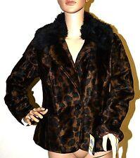 $139 New INC International Concepts Leopard Fur Jacket Coat M S