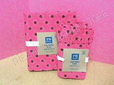 Pottery Barn Teen Tonal Dottie Duvet Cover Full Queen Ruffle Cases Pink Coffee
