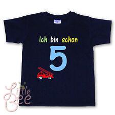 Geburtstagsshirt * Ich bin schon 5 * Wahl: MOTIV, WUNSCHNAME, Größe, Farbe - NEU