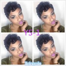 YS-1Short Wavy Hair Wigs for Black Woman Brazilian Virgin Human Hair No Lace Wig