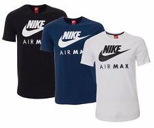 196ef480a New Men's Nike Air Max Logo Sports T-Shirt Top - Blue White Black
