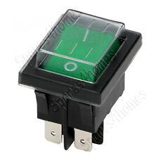 Red or Green Rocker Switch Waterproof, 20a 125vac, 16a 250vac ENEC