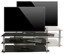 """VCM VCM Meuble TV """"Zumbo"""" ACL Rack, DEL Table Aluminium Verre"""
