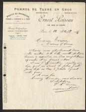 """PARIS (I°) FRUITS & PRIMEURS """"Ernest LOISEAU"""" en 1923"""