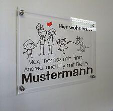 Hausnummer, individuelles Namensschild, Türschild, Acryl 30 x 40 cm