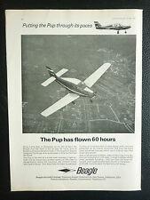 5/1967 PUB BEAGLE AIRCRAFT PUP  / PIAGGIO - DOUGLAS PD-808 JET ORIGINAL AD