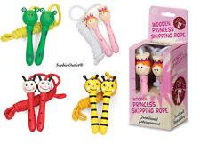 Kids Wooden Skipping Rope Girls Boys Birthday Gift Christmas Stocking Filler Toy