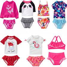 Gymboree Baby Toddler Girl 2 pc Swimsuit Rashkini Tankini 6 12 18 24 2T 3T 4T 5T