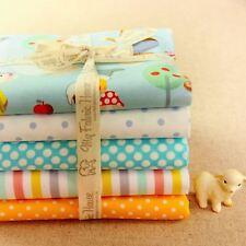 5FQs Cute Cotton Fabric | Blue Yellow | Fat Quarters Bundle | Snow White Gnome