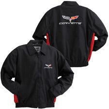 C6 Corvette Black and Red Lightweight Twill Jacket