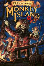 Monkey Island 2 Retro Game Poster |4 Sizes| #1 PC Amiga Atari ST Mac Lucasarts