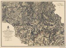Civil War Map Print - Atlanta Campaign III - Photo-Litho  1864 - 23 x 31.52