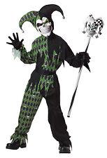 Evil Jester Clown Renaissance Jokes on You Child Costume