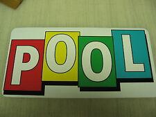 POOL Sign Metel vintage Table billiard Ball cue 4 pool hall Retro Design public