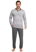 Schiesser pyjama homme long 100% coton taille 48-58 pyjama de type long S S-3XL