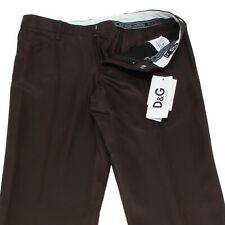 1276L pantaloni marroni uomo D&G DOLCE&GABBANA pants trousers men